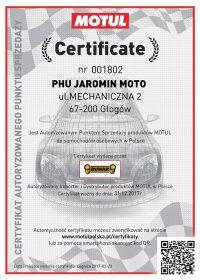 Certyfikat MOTUL dla Jaromin Moto